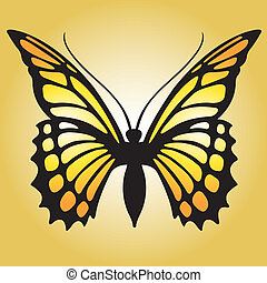 Monarch Butterfly - A bright orange monarch butterfly.