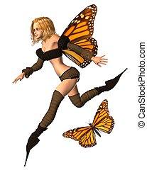 Monarch Butterfly Fairy - 3