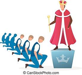 monarchie, empereur, système, dessin animé, héréditaire, ...