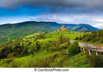 monastère, géorgie, jvari
