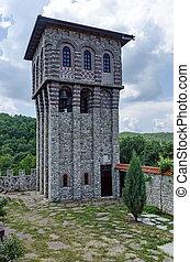 monastère, giginski, tour, cloche