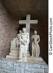 monastère, montserrat, statue