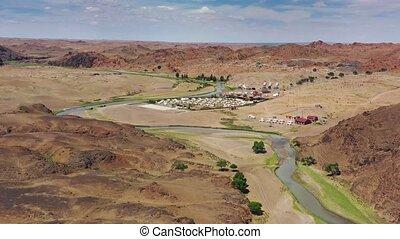 monastère, ongiin, camping, yurt, khiid