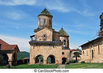 monasterio, antiguo, georgia, gelati, kutaisi