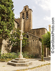 Monasterio de Santa Anna, located in central Barcelona, ??...