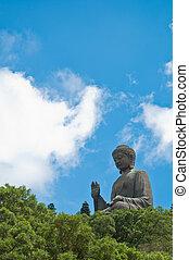 monasterio, gigante,  Buddha,  lin,  Po