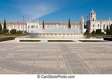 monasterio, hieronymites, localizado, portugal., lisboa