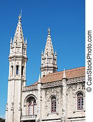 monasterio, hieronymites, o, lisbon., jeronimos