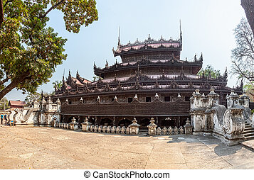 monasterio, -, mandalay, shwenandaw