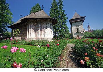 monasterio, moldavia, antiguo
