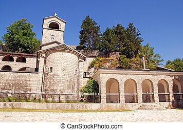 monasterio, ortodox, montenegro, cetinje
