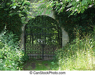 monasterio, puerta