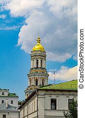 monastero, kiev, cupola, lavra, ukraine., pechersk