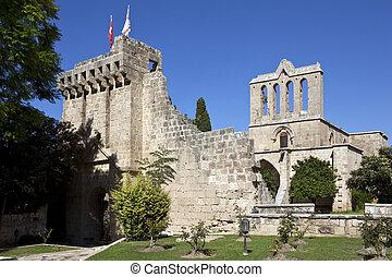 monastero, turco, -, cipro, bellapais