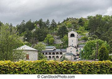 Monastery and Royal Gardens in Cetinje Montenegro