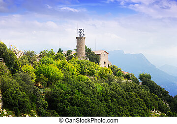 Monastery and Sanctuary of Queralt at Pyrenees. Catalonia