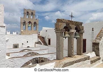 Monastery at Patmos island, Greece - Saint John the ...