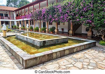Monastery Courtyard - Inner courtyard of La Candelaria...