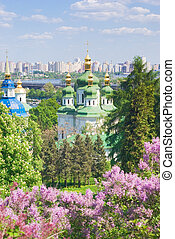 Monastery - Iconic image of Kiev, Ukraine - ancient and...