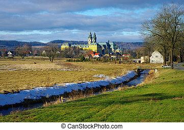 Monastery in Krzeszow, Poland