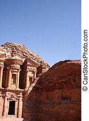 monastery in rock city Petra