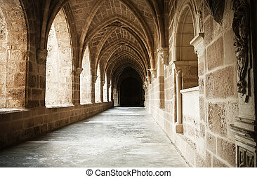 Monastery interior - Interior view of the Monasterio de ...