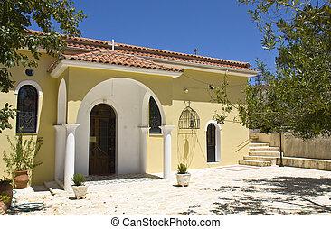 Monastery of 'Katharon' at Ithaki island in Greece