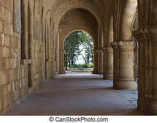 Monastery of Our Lady of Filerimos mountain of Rhodes Greece...