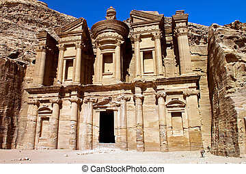 Monastery of Petra - Ancient ruins of the Monastery of Petra...