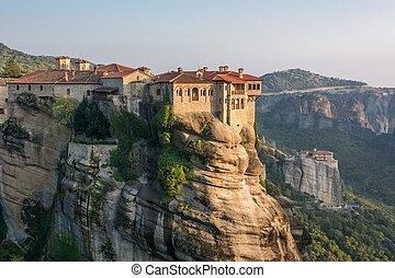 Monastery of Roussanou, UNESCO world heritage Meteora, ...