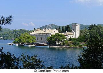 Monastery of Saint Mary,  Island Mljet, Croatia