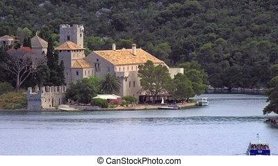 Monastery of Saint Mary - National park on island Mljet,...