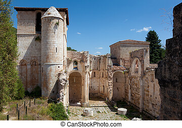 Monastery of San Pedro de Arlanza, Covarrubias, Burgos,...
