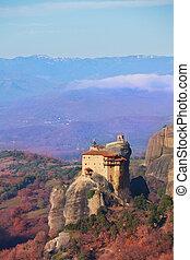 Monastery of St. Nicholas Anapausas landscape - Landscape of...