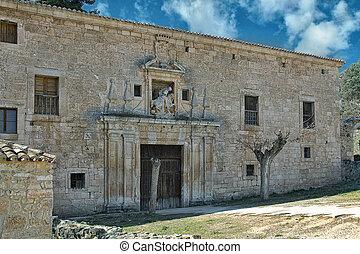Monastery of the Church of San Pedro de Arlanza in the province of Burgos, Spain