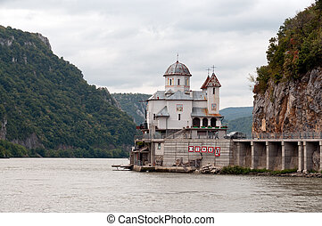 Monastery on Danube canyon