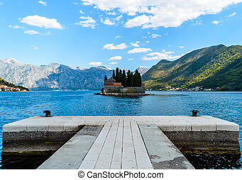 Monastery on the island in Perast