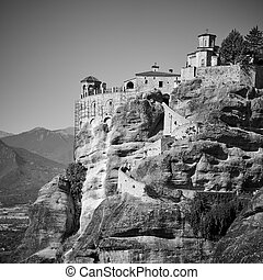 Monastery on the rock in Meteora in Greece