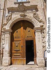 monastery., san, franciscain, italy., puglia., severo.