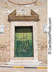 monastery., san, franciscan, italy., puglia., severo.