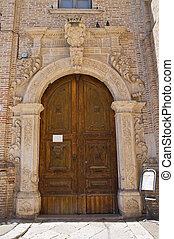 monastery., san, franciscano, italy., puglia., severo.