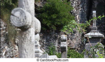 Monastery Savina, graveyard, shallow depth of field