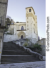 Monastery with stairs