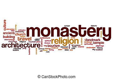 Monastery word cloud