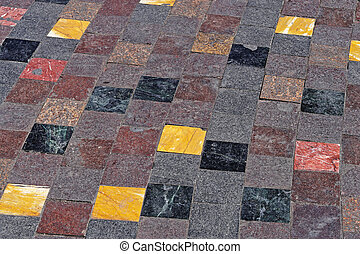 Monastiraki square tiles - Floor tiles at Monastiraki square...