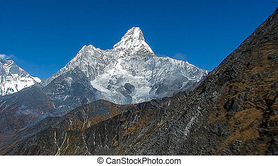 Monch Mountain in the Bernese Alps of Switzerland.