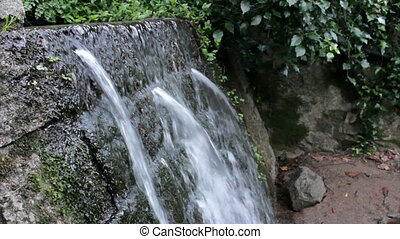 Monchique pure fresh mountain water stream. Algarve....