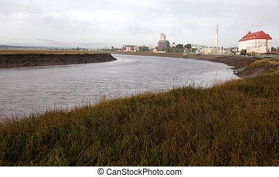 Moncton and the Petitcodiac River - The Petitcodiac River...