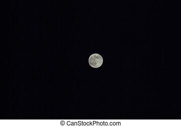 mond, in, der, nacht himmel