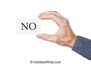 mond, kéz, kártya, nem